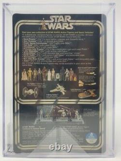 12 Back-A AFA 80 Luke Skywalker White Footer Stand Kenner Vintage Star Wars 1978