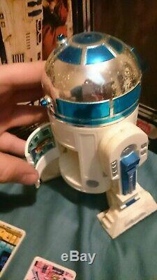 12 inch R2-D2 vintage Star Wars action figure (doll) with box, Death Star plans