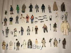 1977-1984 Vintage Star Wars 35 Figure Lot With Original And Extra Weapons