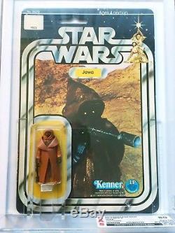 1977 Star Wars 12 Back-a Vinyl Cape Jawa Vintage Moc Cas 80