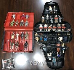 1977 VINTAGE Star Wars Kenner 40 Figure Lot Weapons Complete RARE Vader Case VTG