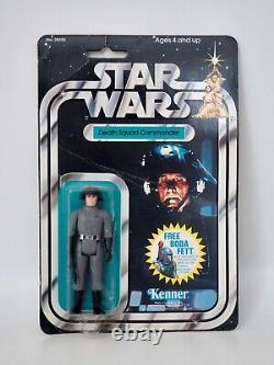 1978 Star Wars Death Squad Commander Vintage Kenner Action Figure MOC, 20 Back