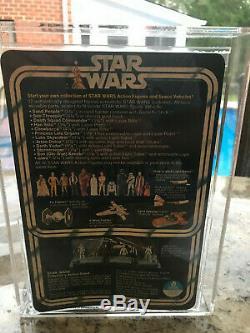 1978 VINTAGE STAR WARS R2 D2 12 BACK A SKU ON STAND CAS/AFA 70+ MOC Unpunched