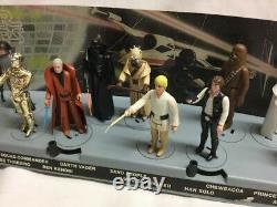 1978 Vintage Star Wars 12 Back Complete Figure Set Mail Display Stand Leia Luke