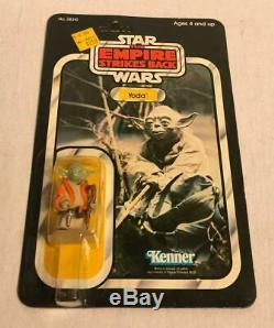1980 Yoda MOC 32 Back ESB Vintage Star Wars Kenner Carded Figure