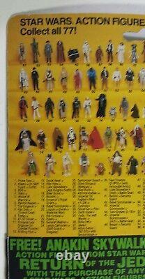 1983 Kenner Star Wars Vintage ROTJ Darth Vader 77 Back B MOC Free Ship