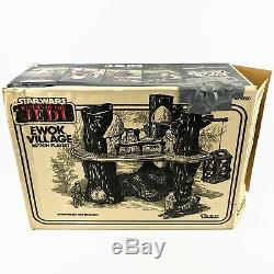 1983 Vintage Star Wars Return of the Jedi Ewok Village Playset with Original Box