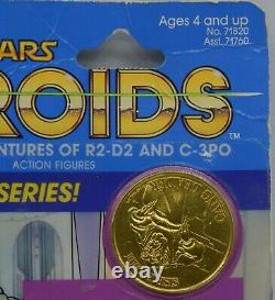 1985 vintage SISE FROMM Kenner Star Wars MOC action figure DROIDS cartoon RARE
