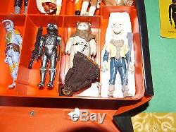 25+Vintage Star Wars Figures With Yak Face, Leia Fett. Yoda + Orig. Guns +Case