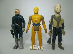 3 Repro Figures Blue Snaggletooth Yak Face Droids C-3PO vintage-style Star Wars