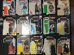 (48) Vintage Kenner Star Wars card back lot