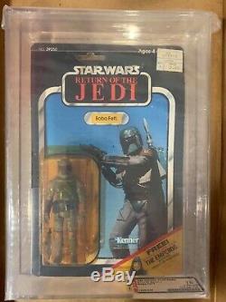 AFA 75 1983 Vintage Star Wars Kenner ROTJ Boba Fett Y-NM (75-80-85)