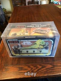 AFA 80 Red vintage Star Wars JABBA THE HUTT playset Kenner Canada 1983