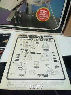 COMPLETE star wars VINTAGE IMPERIAL SHUTTLE VEHICLE BOXED unused sticker