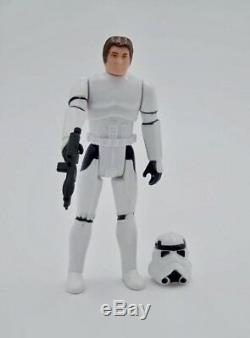 Custom Vintage carded Star Wars Han Solo Stormtrooper 3.75 figure POTF MOMC MOC