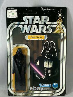 Darth Vader 12 Back C Vintage Kenner Star Wars MOC Double Color Footer 1978 UP