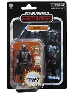 Din Djarin (The Mandalorian) and Child-Star Wars Vintage Collection-Walmart Only