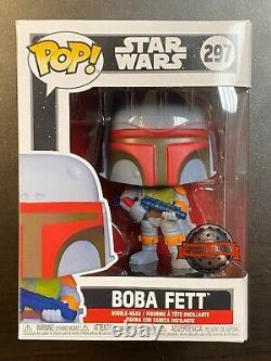 Funko Pop Star Wars Boba Fett Vintage #297 Special Edition Exclusive In Hand