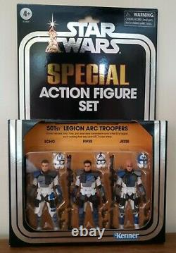 IN HAND Star Wars The Vintage Collection Clone Wars 501st Legion ARC Troopers