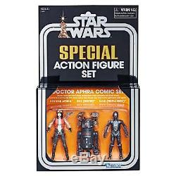 (In-Hand) Star Wars Vintage Collection SDCC Exclusive 3.75 Doctor Aphra Set