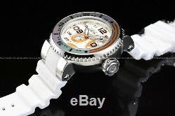Invicta Men 52MM Pro Diver Limited Ed Star Wars BB8 Antique Silver Orange Watch