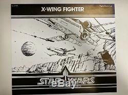 KENNER PRESENTATION BOARD STAR WARS X-WING POTF 1985 VINTAGE WithCIB LETTER NO AFA
