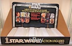 Kenner Vintage Star Wars Action Figure Display 12 back Bin and Header