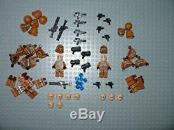 LEGO Star War Geonosis imperial Clone Trooper minifigure squad X11 blaster 75089