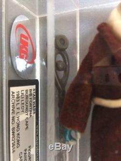 Lili Ledy RED/BURGUNDY CAPE Bib Fortuna Vintage Star Wars Figure HK UKG 85%