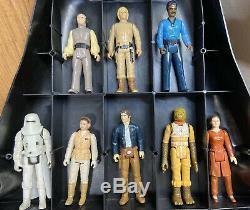 Lot of 35 Original Vintage Kenner Star Wars Action Figures, + 2 Cases, 1978-1983
