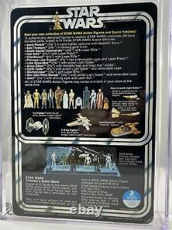 Luke Skywalker DT Saber SKU Footer 12 Back A Vintage Kenner Star Wars MOC 1978
