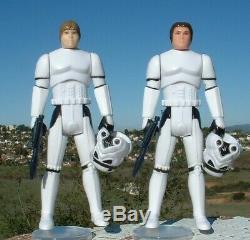 NICE REPRO Han &Luke Stormtrooper withHelmet & Weapons POTF 1985 Vintage Star Wars