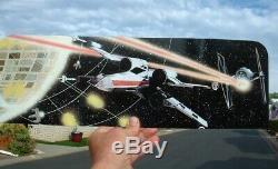 ORIGINAL 18 Gray Early Bird 1977 Display Stand with1990 Cardback Vintage Star War