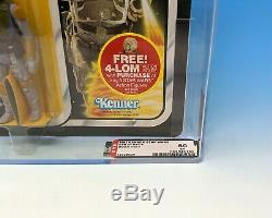 ORIGINAL 1980 vintage STAR WARS kenner BOBA FETT moc ESB 47-BACK archival AFA 60