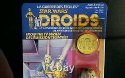 R2-D2 POP-UP LIGHTSABER DROIDS cartoon Vintage Star Wars KENNER 1985 Bilingual