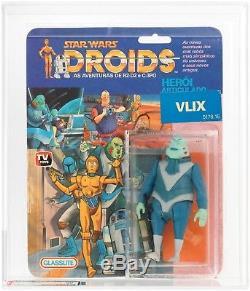 RAREST Released STAR WARS figure VLIX AFA Graded DROIDS TV Series Vintage MOC