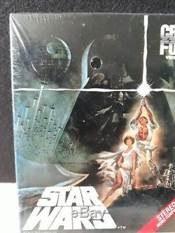 RARE! Original Release Vintage 1983 SEALED! STAR WARS big box vhs tape CBS FOX