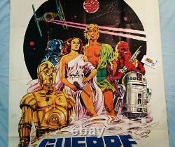 RARE! Star WarsITALIAN MOVIE POSTERGUERRE STELLARIVintage 1977OVERSIZE