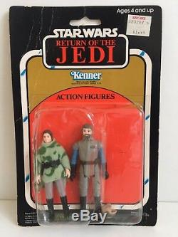 RARE Vintage Kenner Star Wars ROTJ 2-pack Two Pack Leia Poncho Madine MOC 1983