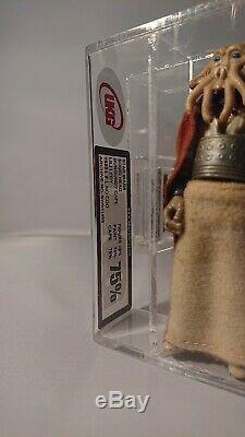Rare Vintage Star Wars LILI Ledy Squid Head Burgandy Cape 75 Ukg Afa Graded Mint