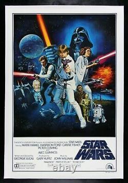STAR WARS CineMasterpieces RARE STYLE C ORIGINAL VINTAGE MOVIE POSTER 1977