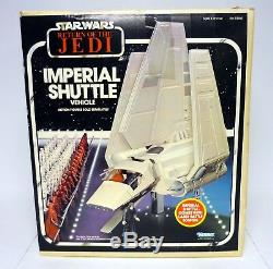 STAR WARS IMPERIAL SHUTTLE Vintage Figure Vehicle ROTJ COMPLETE withBOX WORKS 1984