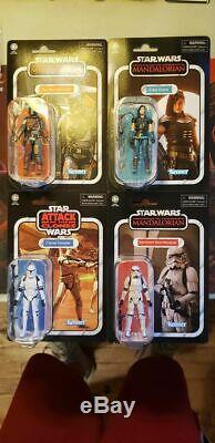 STAR WARS VINTAGE COLLECTION WAVE 3 SET The MANDALORIAN CARA STORMTROOPER CLONE