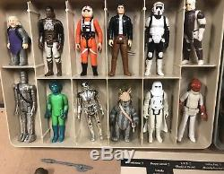 STAR WARS Vintage First 12 Action Figures Complete 1977 Case Insert Brown/h/luke
