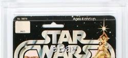 Star Wars 12 Back-a Vinyl Cape Jawa Vintage Moc Cas 80 Not Afa Recently Graded