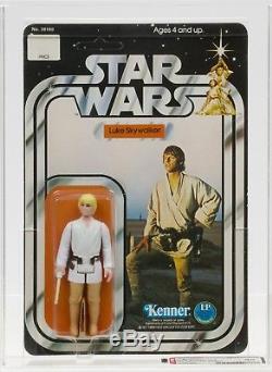 Star Wars 1978 Vintage Kenner 12 Back C Double Telescoping Luke Skywalker AFA 80