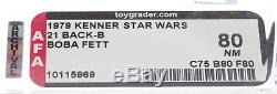 Star Wars 1979 Vintage Kenner 21 Back B Boba Fett MOC AFA 80