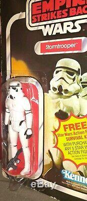 Star Wars 1980 Vintage Kenner ESB Imperial Stormtrooper MOC 41 Back beater