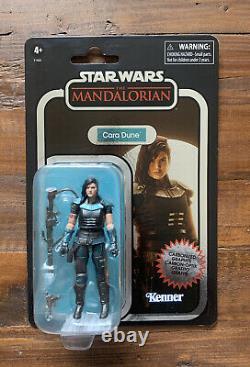 Star Wars Cara Dune Vintage Collection Mandalorian Carbonized GINA CARANO 3.75
