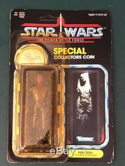 Star Wars Kenner Vintage Han Solo In Carbonite Unpunched POTF 1985 LAST 17 MOC